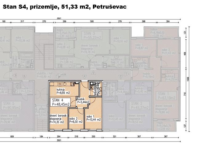 Slike su vezane uz ?lanak: S4, Petru�evec, 51,22 m2