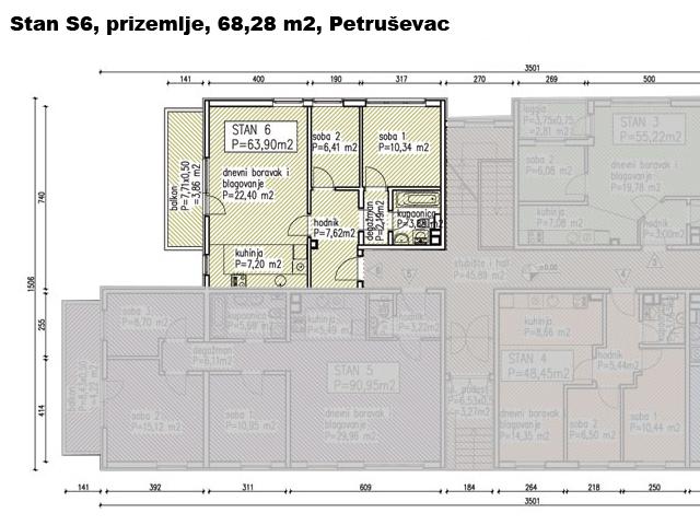 Slike su vezane uz ?lanak: S6, Petru�evec, 68,28 m2