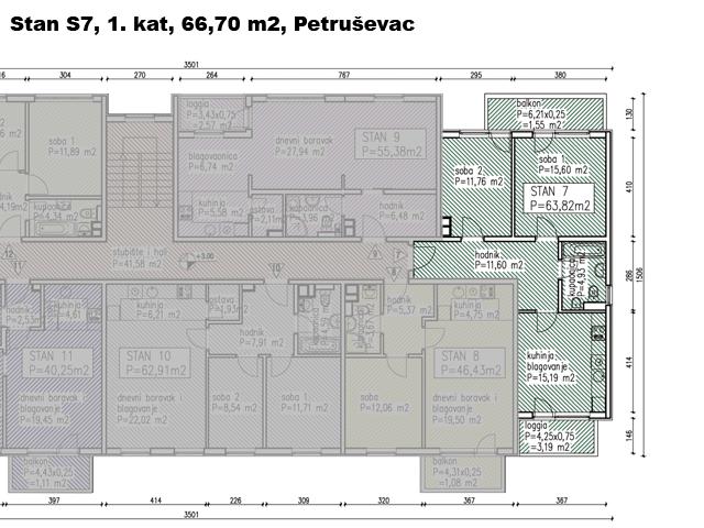 Slike su vezane uz ?lanak: S7, Petru�evec, 66,70 m2
