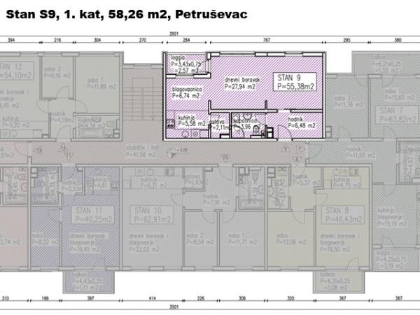 S9, Petru�evec, 58,26 m2