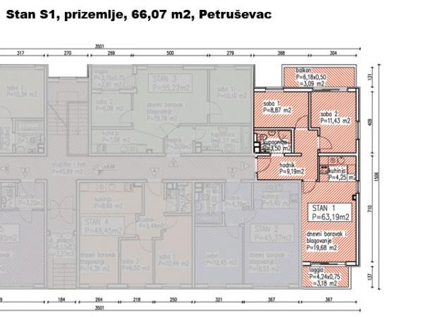 S1, Petruševec, 66,07 m2