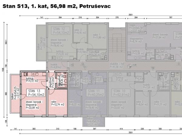 S13, Petru�evec, 56,98 m2
