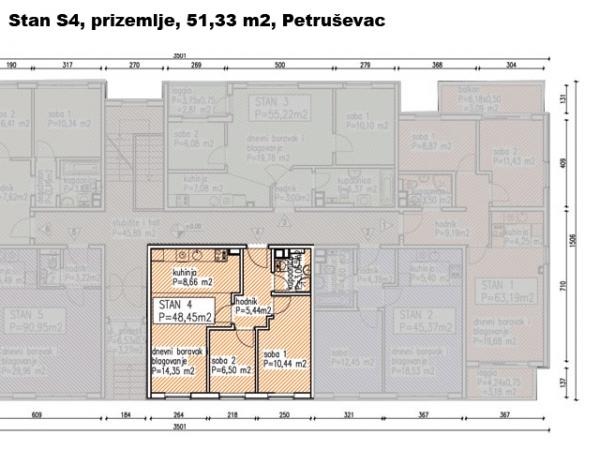 S4, Petru�evec, 51,22 m2