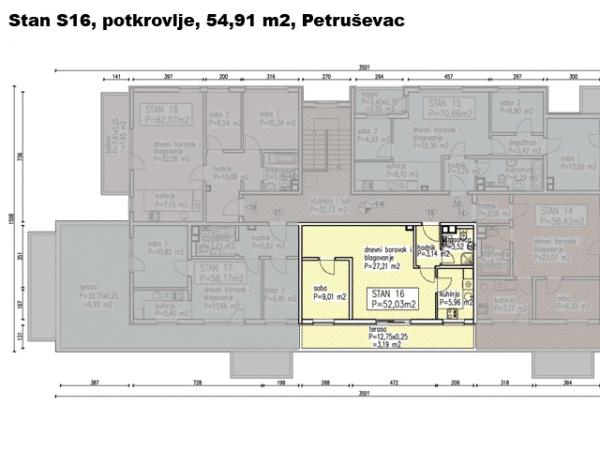 S16, Petruševec, 54,91 m2