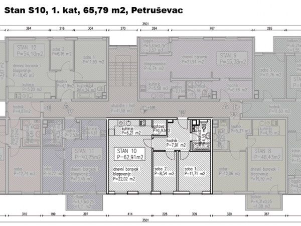 S10, Petruševec, 65,79 m2