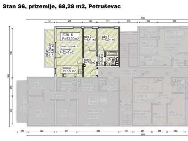S6, Petru�evec, 68,28 m2